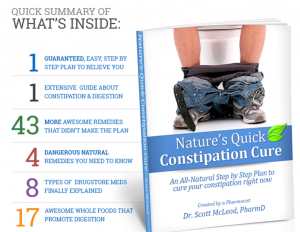 Treating Constipation Naturally – Nature's Quick Constipation Cure Review