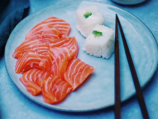 sashimi (but I don't eat the rice)